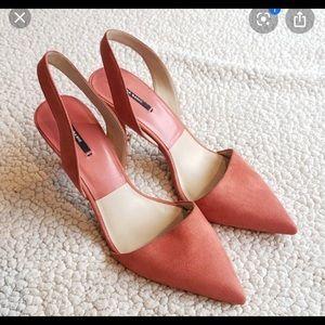 Zara   Shoes slingback heels size 9.5